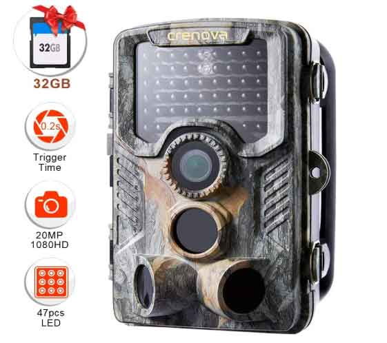 Crenova 20MP Wildlife Trail Camera
