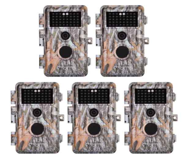 5 pack game trail cameras